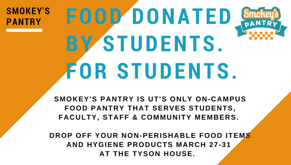 Dr. Nownes' Political Science Service-Learning students help to promote Smokey's Pantry